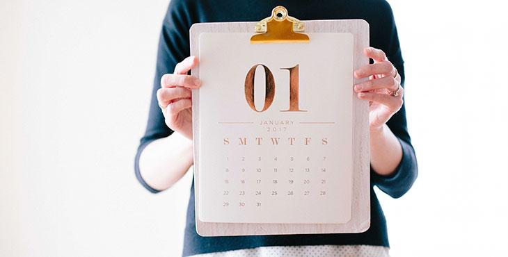 Первый день месяца в календаре